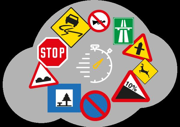 Code accéléré - Panneaux de signalisation