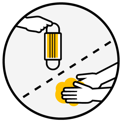 Port du masque et nettoyage des mains